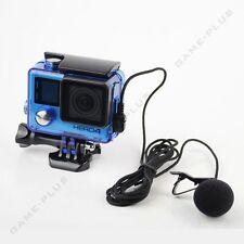 "For GoPro Hero 4 3+ 3 Side Opened Skeleton Housing + 78"" External Microphone Mic"
