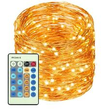 LED Copper Wire Lights 99ft/30m 300 LED Light String Dimmable with Remote Con...