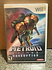 Metroid Prime 3: Corruption (Nintendo Wii, 2007) Complete CIB Manual - Free Ship