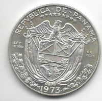 Panama 1 Balboa 1973 plata @ PROOF @