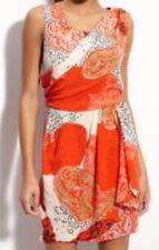 Julie Dillon Dress Draped Crepe de Chine Sheath Size 8