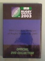irb GREATEST MOMENTS OF RUGBY WORLD CUP 2003     DVD NEW