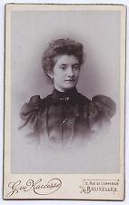 Eve Narcisse Bruxelles Belgique cdv Vintage citrate ca 1890