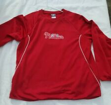 Philadelphia PHILLIES Genuine MLB Therma Base Pullover by Majestic Men's XL Mint