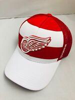 NWT Reebok Detroit Red Wings NHL Hockey Mesh Snap Back Trucker Adjustable Hat