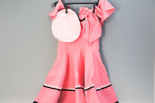 Macross F Movie Version Dress of RANKA LEE Pink Cosplay Free Ship 614f06