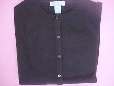 WOMENS HAYDEN CASHMERE CARDIGAN SWEATER CHOCOLATE BROWN XS 300.00 NEW