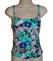 Island Escape floral push up tankini top size 6 swimsuit women new