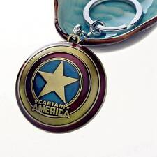 Vintage Marvel Comics Super Hero Captain America The Avengers KeyRing Keychain