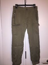 New Guess Vintage Crop Trouser Pants Grunge Green size 28
