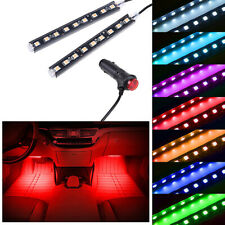 Red LED Car Interior Accessories Floor Decora Atmosphere Strip Lamp Lights 2x