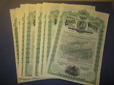 Wholesale Lot of 10 1890 LEHIGH VALLEY Railway - Railroad GOLD BOND Certificates