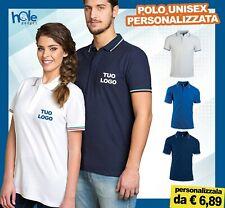 Polo personalizzate uomo donna t-shirt maglietta manica corta da lavoro cotone