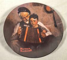 "Vintage 1981 Knowles Collector'S Plate Norman Rockwell ""The Music Maker"""