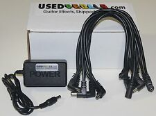 USEDPEDALS 10-Spot Daisy Chain & 9v Power Supply Combo for Boss BF-2 Flanger