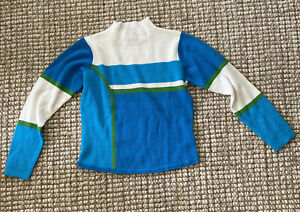 OBERMEYER Girl's Sweater LG Juniors Blue White Pullover Ski/Snowboard Comfy VGC