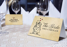 Personalised Character Wedding Place Name Cards - Available with names or blank