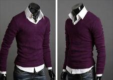 Mens Casual Long Sleeve Jumper Top Sweater Sweashirt Pullover Cardigan Knitwear