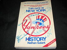 THIS DATE IN YANKEES HISTORY BOOK SIGNED AUTOGRAPHED BY (10) LEGENDS & STARS !!!