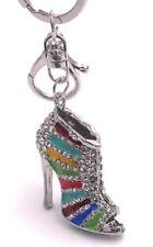 High Heel mit Kristallen aus Metall Schlüsselanhänger Anhänger Taschenanhänger