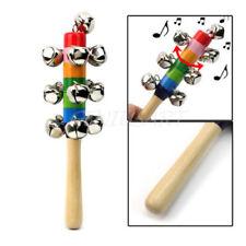 Campanelli Sonaglio con Manico Multicolori in Legno Strumento Musicale Bimbi moc
