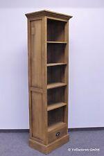 TEAKKONTOR BÜCHERREGAL SE36-1  Teakholz antik massiv 190x50 Regal Bücherschrank