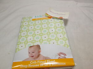 New Kids Line GROW TOGETHER Crib Fitted Sheet -Sage, blue & Ivory Flower