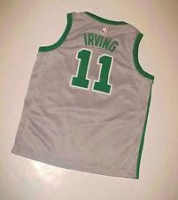 Boston Celtics Kyrie Irving #11 NBA East Silver Gray Green BOY Nike Jersey M