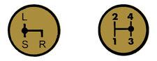 Aufkleber Label Sticker für Deutz Schaltschema D5206 Baureihe (1+2)