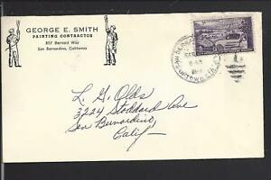 SAN BERNARDINO, CALIFORNIA,1954 COVER , ADVT. GEORGE SMITH,PAINTING CONTRACTOR.