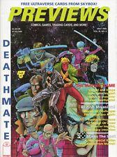 PREVIEWS THE COMIC SHOP'S CATALOG MAY 1993 VOL.3 NO. 5 DEATHMATE X-MEN Hologram