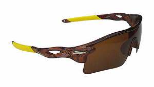 OULAIOU Fishing Sports Glasses Brown Plastic Frame brown Polycarbonate Lense