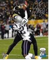 J.C. Jackson New England Patriots Autographed hand Signed 8x10 photo Coa JSA