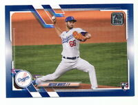MITCH WHITE RC 2021 TOPPS SERIES 1 WALMART ROYAL BLUE PARALLEL #270 DODGERS
