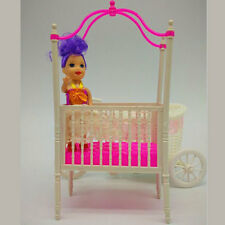 Sweet Baby Crib For Barbie Girls Furniture Kelly Doll's Baby Doll Accessories