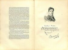 Portrait Pietro Mascagni Livourne Livorno Compositeur Musique Opera Italie 1904