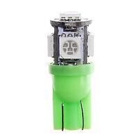 1 BOMBILLA LED COCHE T-10 W5W 5 SMD 12V  LUZ VERDE GREEN TIPO XENON T10