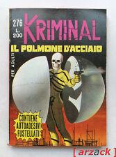 KRIMINAL n 276 Il polmone d'acciaio CORNO 1970 con ADESIVI Magnus