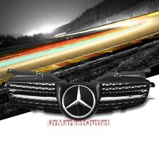 Black/Chrome Front CL Style Grille for Mercedes Benz 98-04 R170 SLK 230 320 32