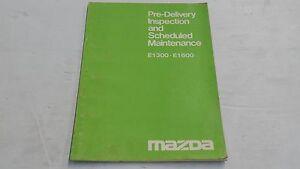 MAZDA E1300 E1600 PRE-DELIVERY INSPECTION & MAINTENANCE BOOK ORIGINAL GENUINE