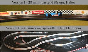 Leitplanken für Slotracer Carrera/digital, Scalextric usw auf Wunsch mit Werbung