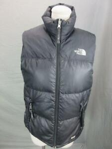 The North Face Size L(14-16) Boys Black Full Zip Insulated Down Puffer Vest T457