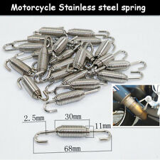 6pcs Stainless Steel Racing Motorcycles Bike Scooter Pipe Silencer Springs Hooks