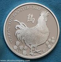 2017 1oz Silver proof £2 Coin Lunar Year Of The Rooster Royal Mint Boxed COA