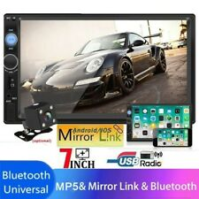 7'' HD 2Din Car Stereo Radio Touch Screen Android IOS USB/TF MP5 Player+Camera