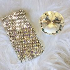 For iPhone Xs Clear Crystal Diamond Bling Back Case w/ Swarovski Crystals 24ss