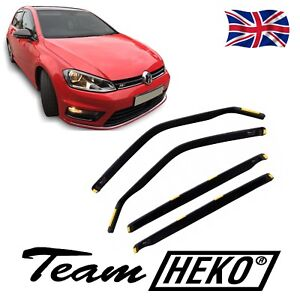 HEKO TINTED Wind Deflectors for VW GOLF 7 mk7  5 DOOR HATCHBACK 2012-2019 4pc