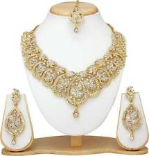 Indian Bollywood Fashion Wedding Ethnic Gold Plated Bridal Jewelry Necklace Set