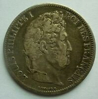1831-B FRANCE - 5 FRANCS - LOUIS PHILIPPE I - MINT: ROUEN - SILVER CROWN - RARE!