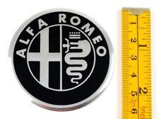 "ALFA ROMEO *4 x NEW* Emblems 60mm (3 1/2"") WHEEL CENTER CAP STICKERS 3D DECALS"